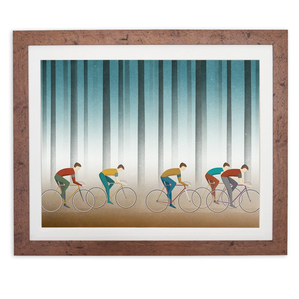 Image of 'Misty Morning Ride' digital print by Ajda Fortuna