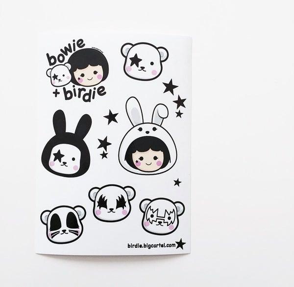 Image of Birdie + Bowie sticker set
