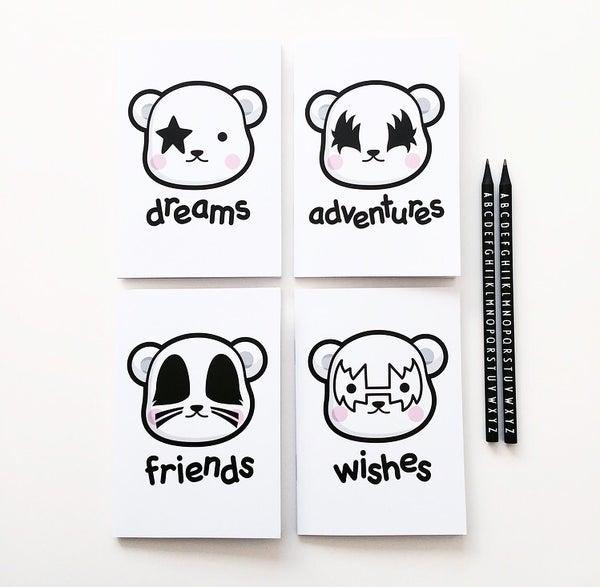 Image of Dreamer bears notebook set of 4