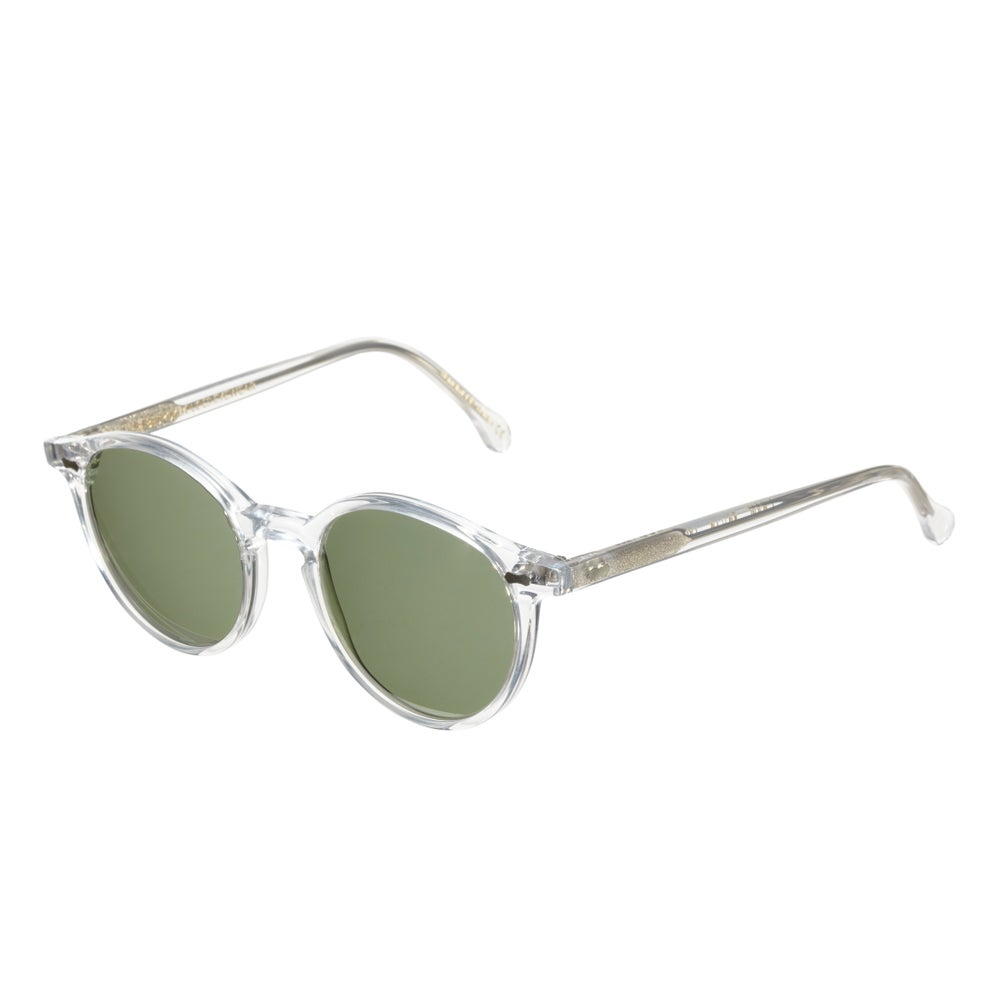 Image of CRAN Transparent Frame - Bottle Green Lenses