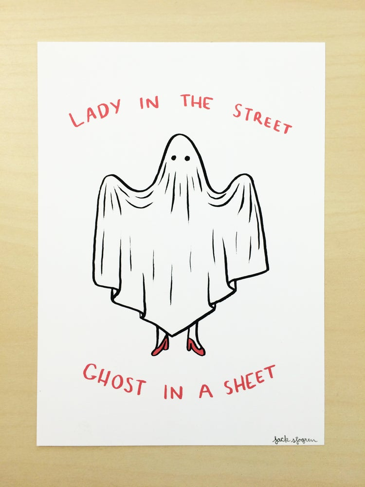 "Image of ""Ghost in a Sheet"" Print"