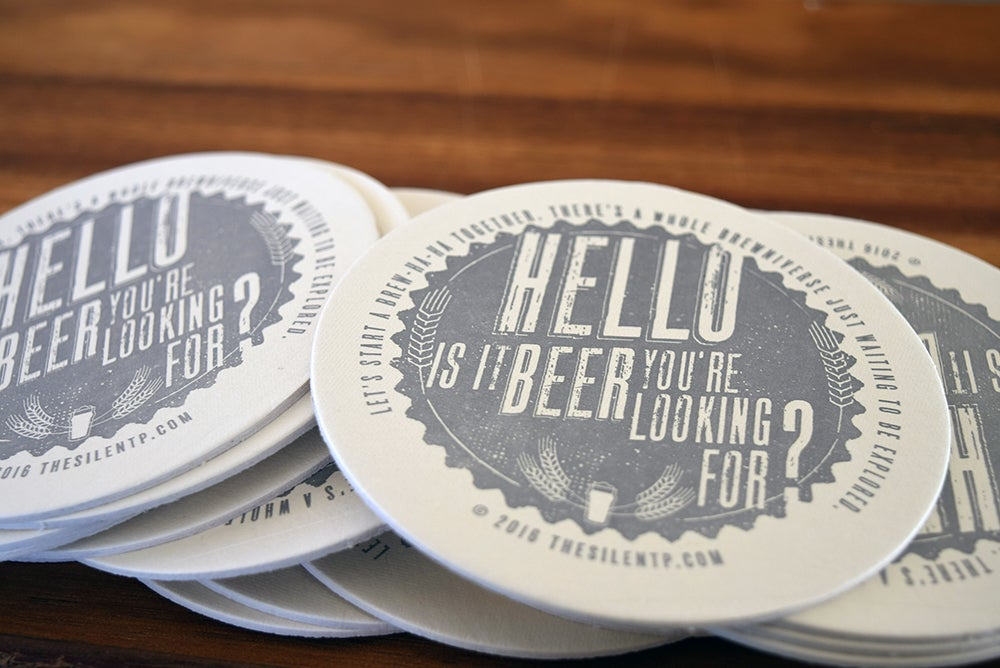 Image of Hello to Beer Coaster