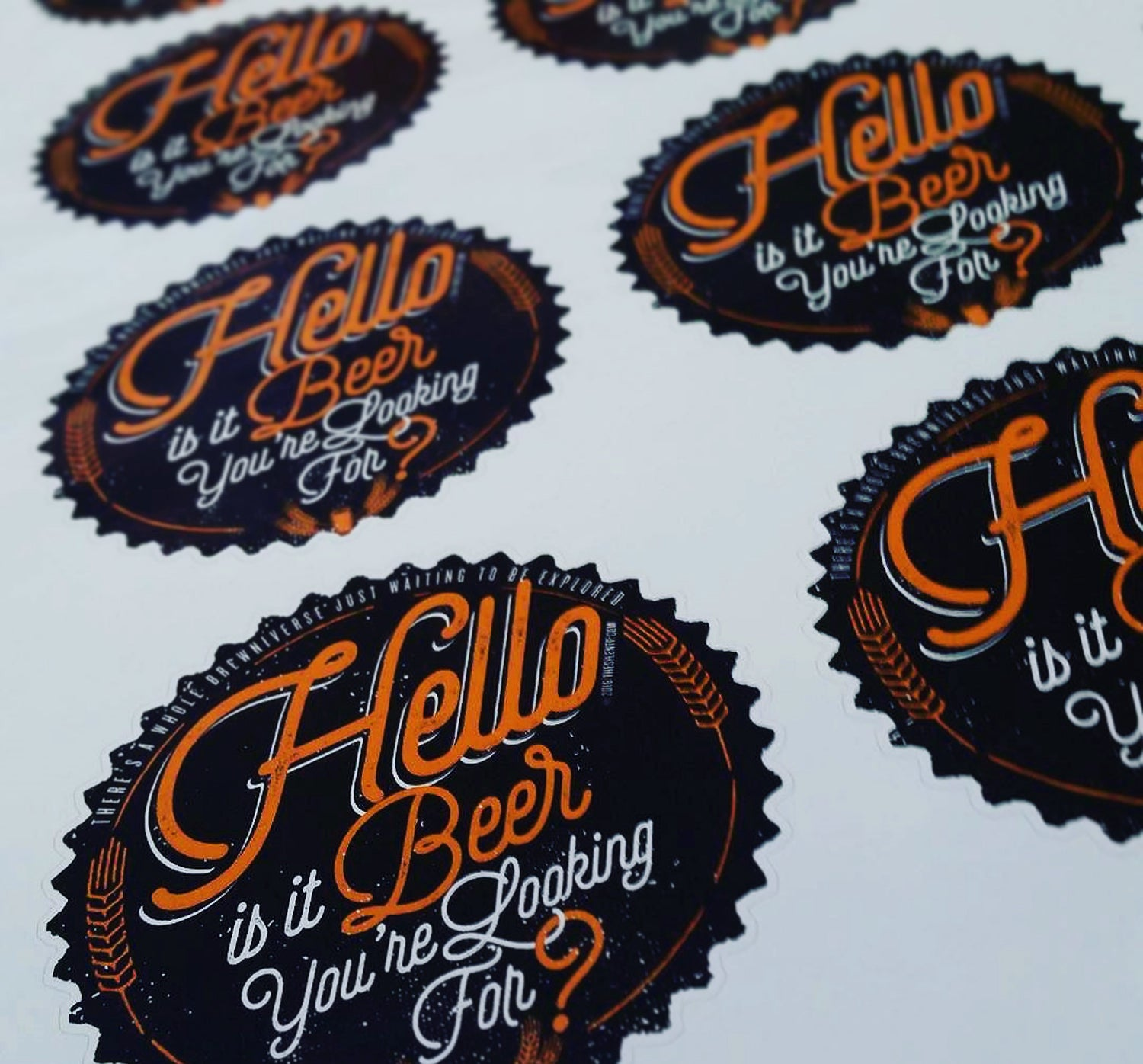 Image of Hello to Beer Vinyl Sticker