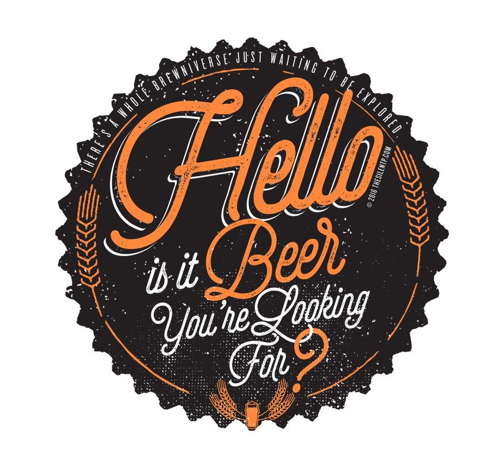 Image of Hello to Beer Vinyl Sticker