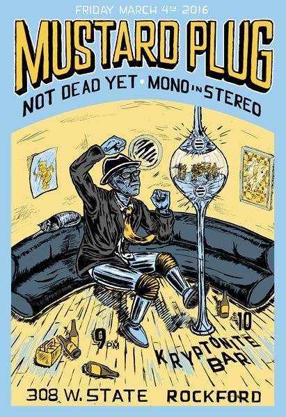 Image of Mustard Plug gig poster