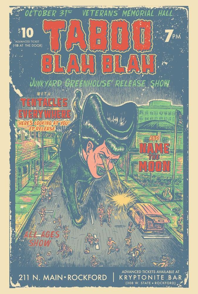 Image of taboo blah blah gig poster