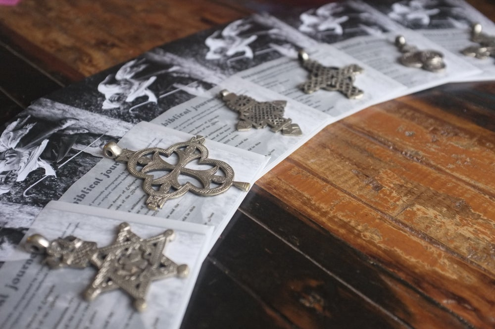 Image of Limited edition postcard set inc. an original handmade cross