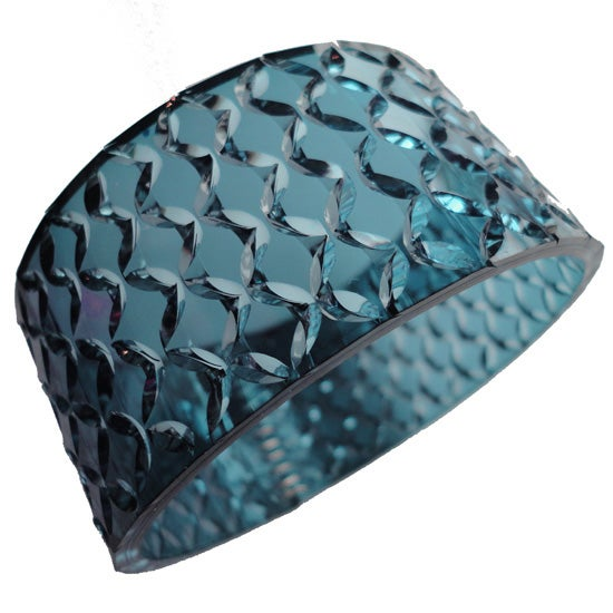 Image of crystal cuff - ocean blue
