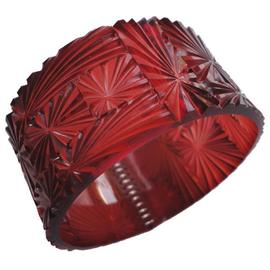 Image of bevel bangle - burgundy