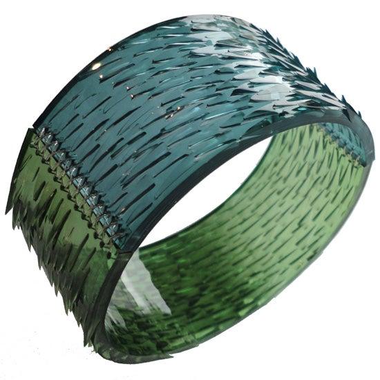 Image of skin deep bangle - green + ocean blue
