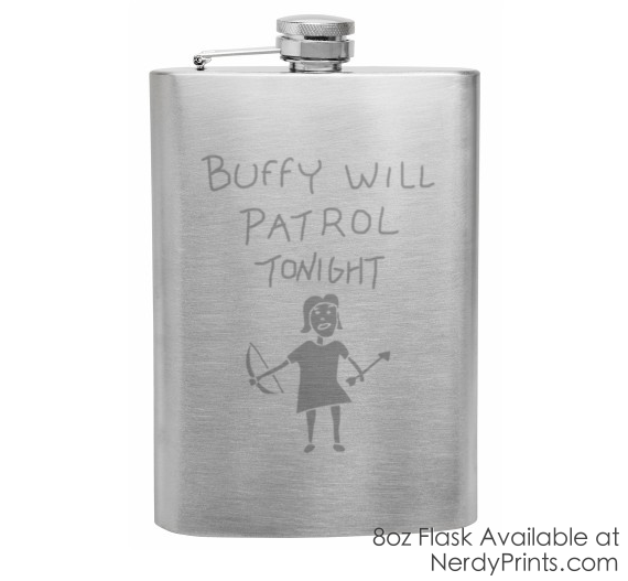 "Image of Buffy ""Hush"" Inspired Flask"