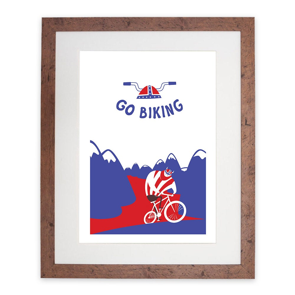 Image of 'Go Biking' digital print by re:robot