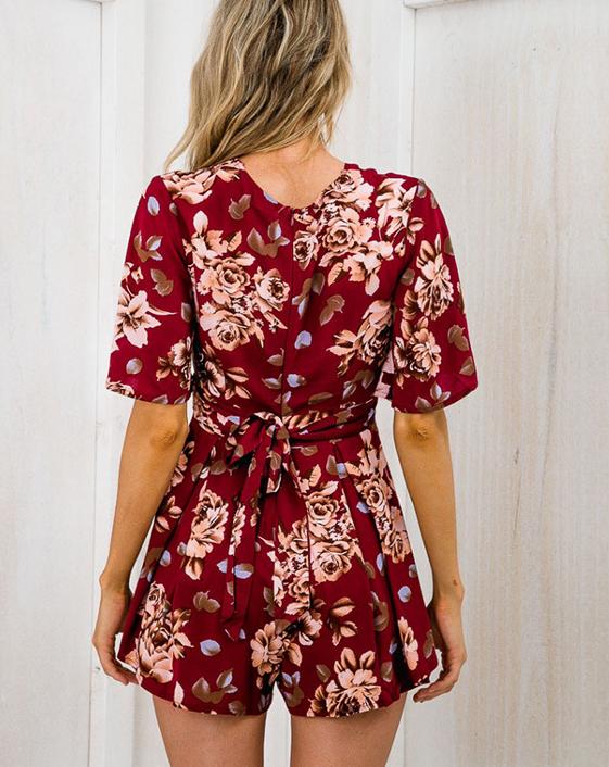 Image of HOT FLOWER ROMPER DRESS