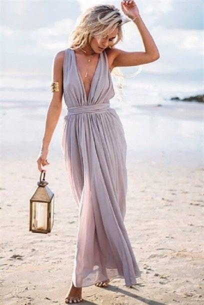 Image of HOT LONG CHIFFON CUTE DRESS