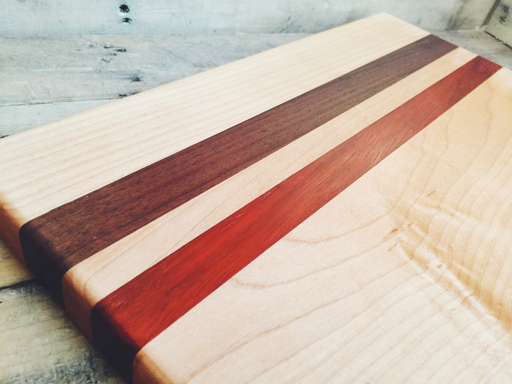 Image of Large Live Edge Maple Striped Board