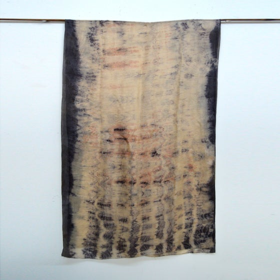 Image of Eco Print silk shawl/wrap