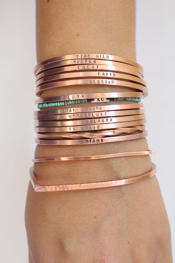 Image of copper or .925 cuff