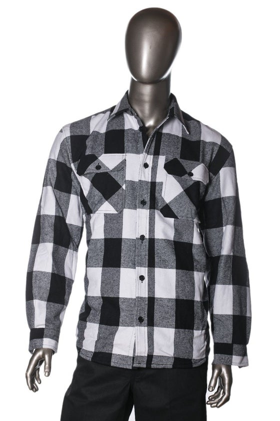 Image of HG Mens Brawny Buffalo Plaid Flannel Jacket Heavyweight