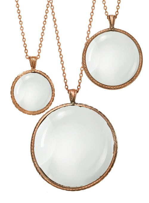 Image of ROSE GOLD LOOKING GLASS pendant