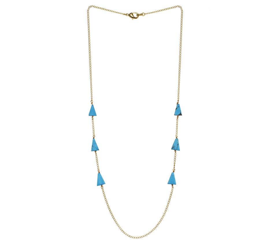 Image of TURQUOISE ISOSCELES TRIANGLE necklace