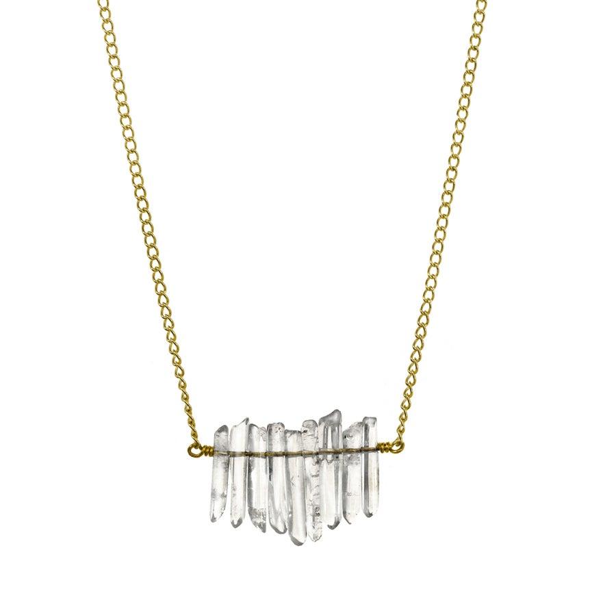 Image of MINI QUARTZ CLUSTER necklace