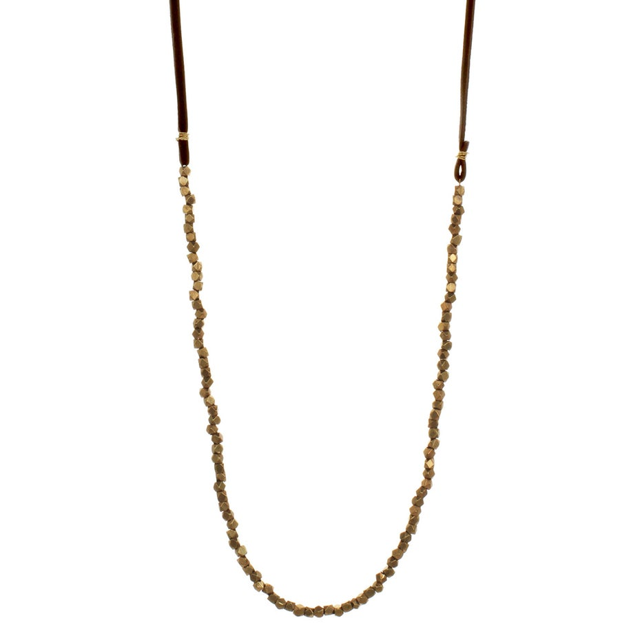 Image of BRASS BEAD & LEATHER