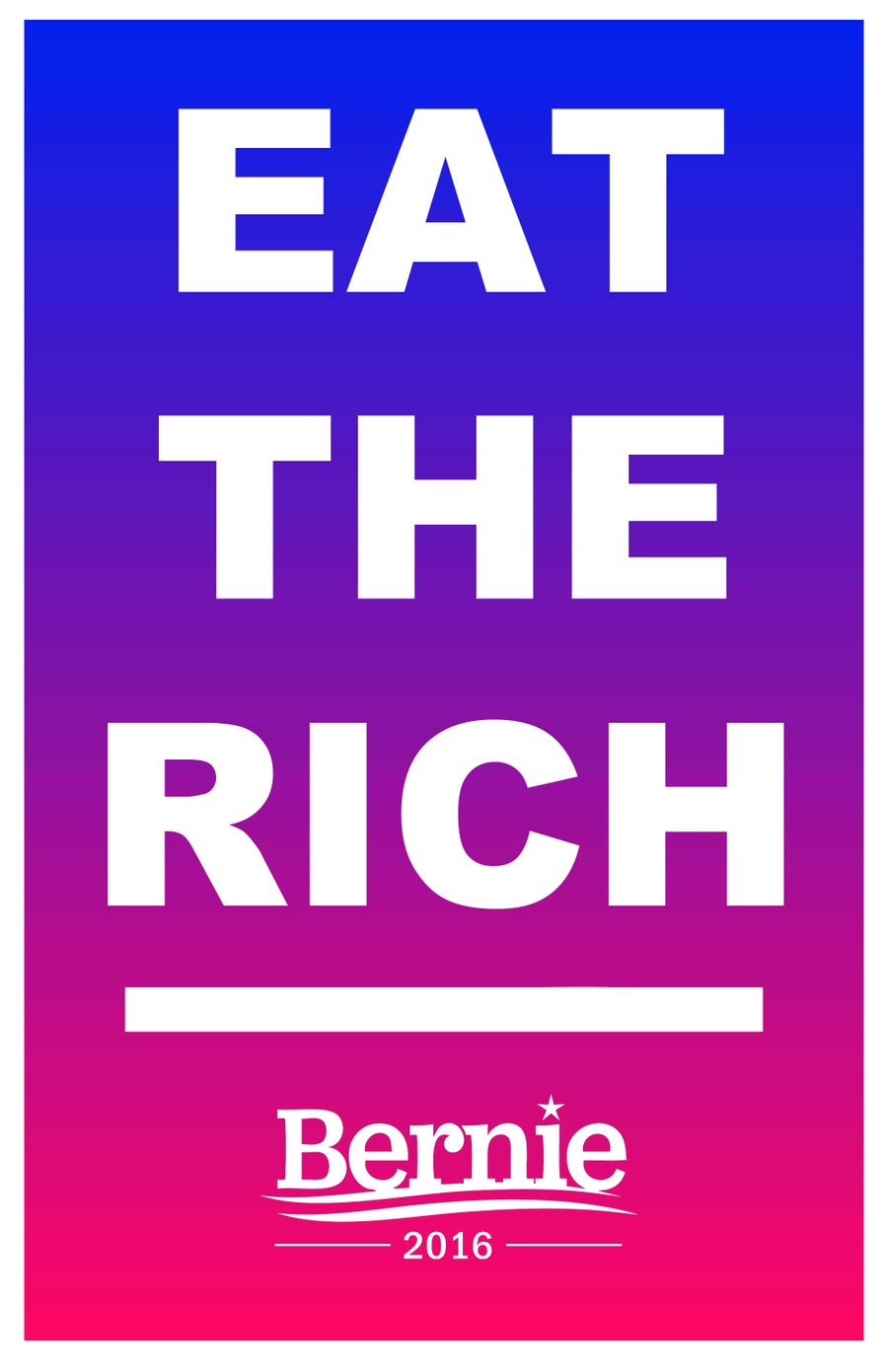 Image of Eat The Rich posters