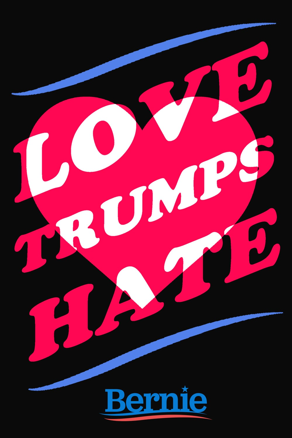 Image of LOVE TRUMPS HATE poster