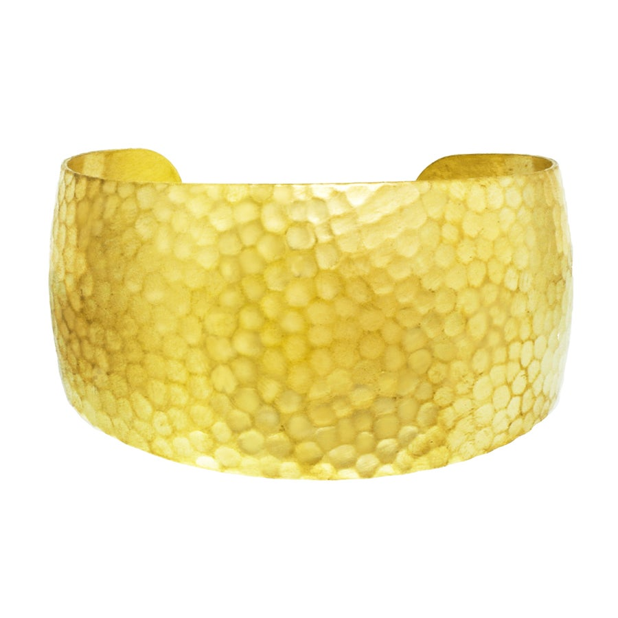 Image of HAMMERED BRASS CUFF bracelet
