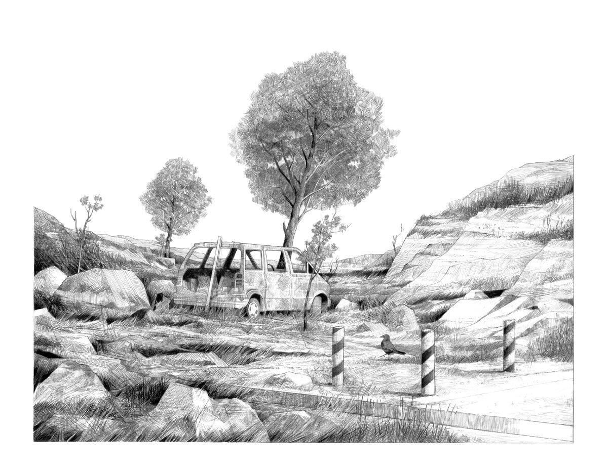 Image of Van Rock Crow Scape