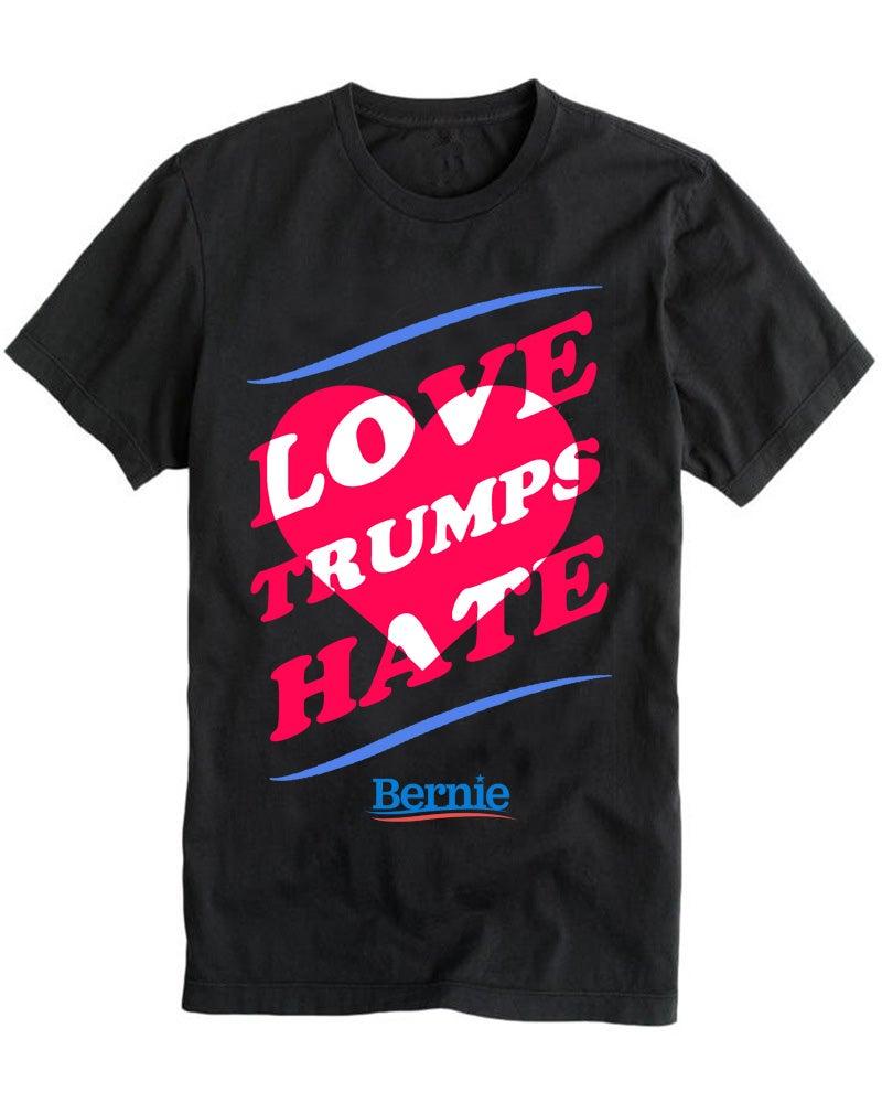 Image of LOVE TRUMPS HATE black tee
