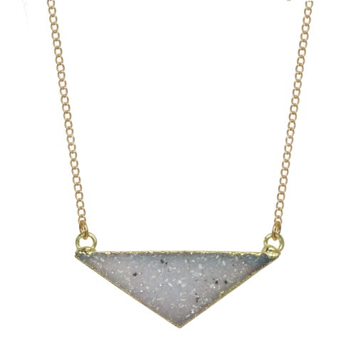 Image of TRIANGLE DRUZY necklace