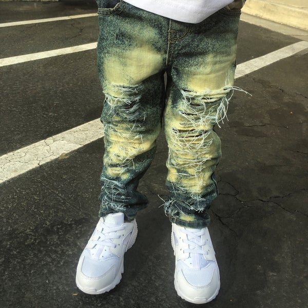 Image of Blue super distressed jeans