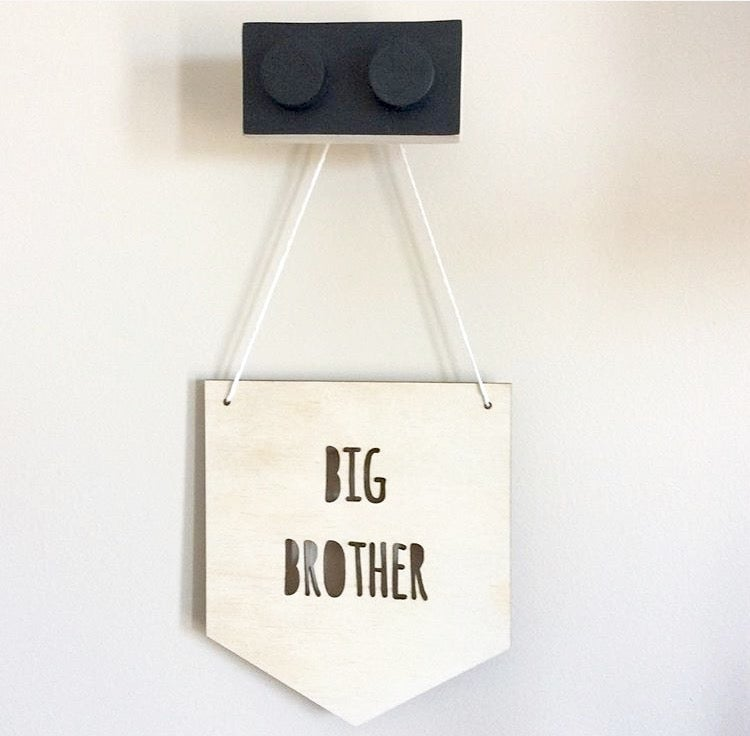 Image of BIG/LITTLE  SISTER / BROTHER MINI FLAGS