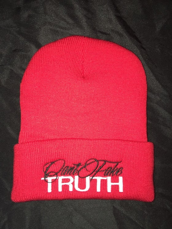 """Image of """"Can't Fake TRUTH"""" Beanies (Design colors can be chosen in drop down menu or email)"""