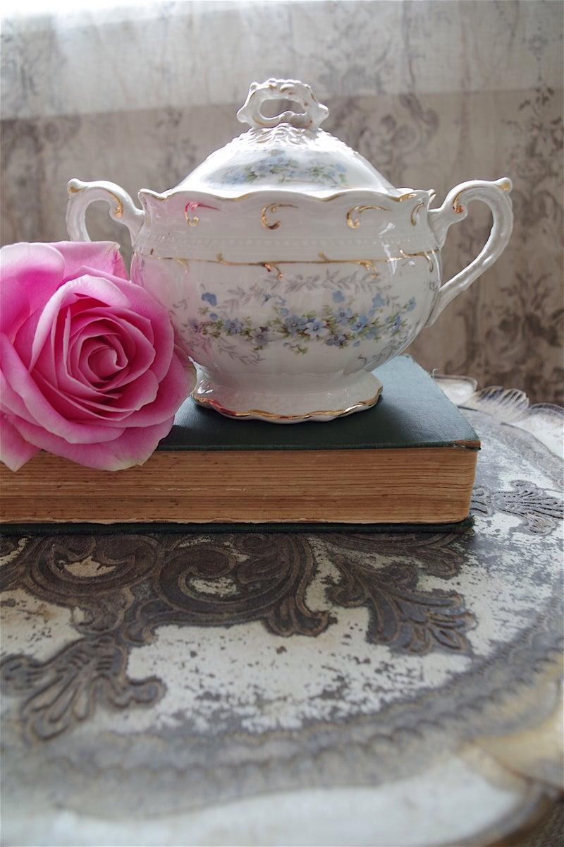 Pot A Chocolat En Porcelaine Decor Oiseaux