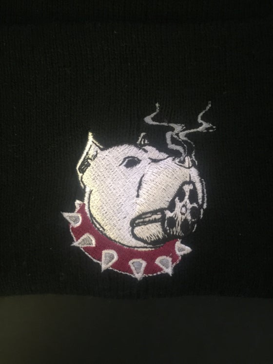 "Image of ""SNUBNOSE"" Logo Beanies (Front & Back of beanie)"