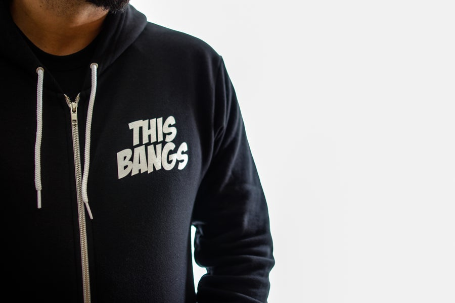 Image of This Bangs Unisex Flex Fleece Hood Zip Up