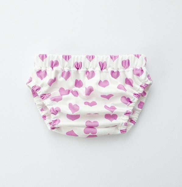 Image of organic cotton orchid signature heart bloomer