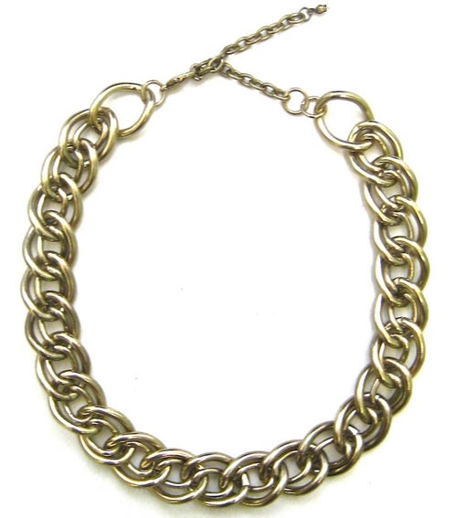 Image of Double Link Choker Chain Necklace