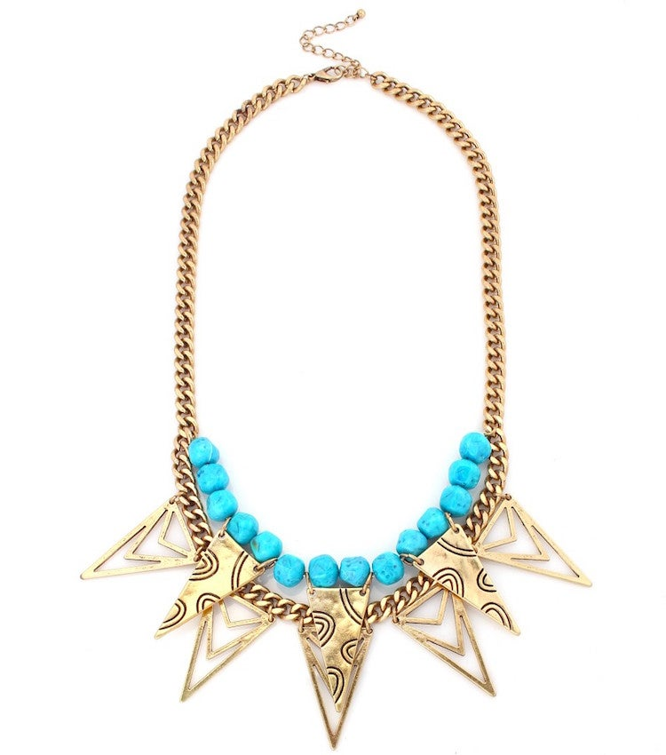 Image of Turq Beaded Rock Star Necklace