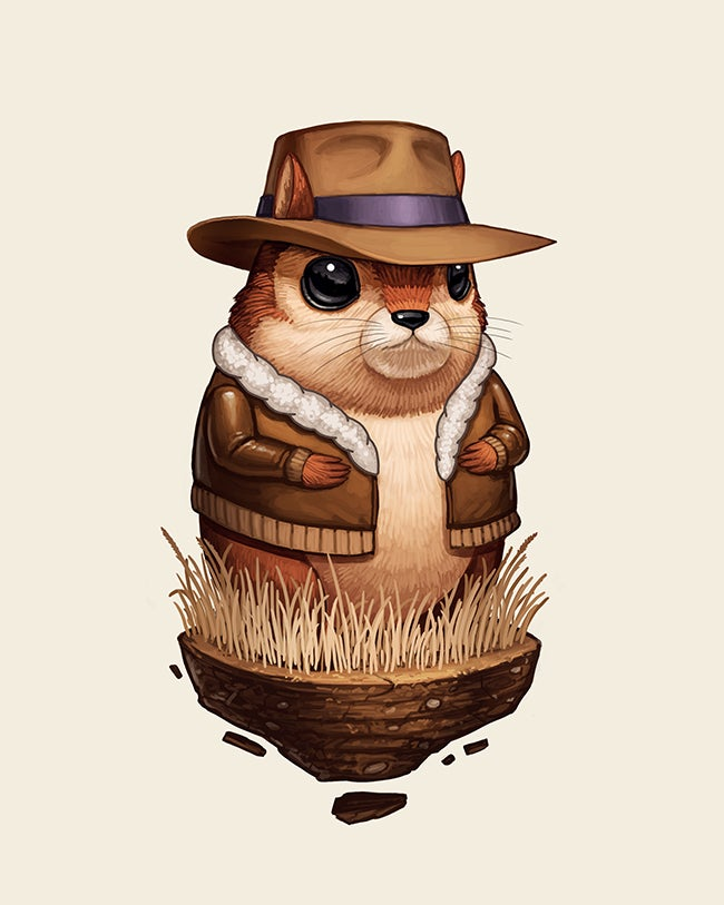 Image of Chipmunk with Hat and Jacket