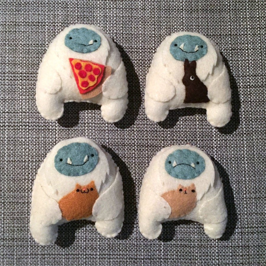 Image of special edition mini plush yetis