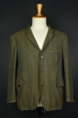 Image of 1920'S FRENCH BROWN WOOL FARMER BLAZER JACKET フレンチファーマーズブレザー