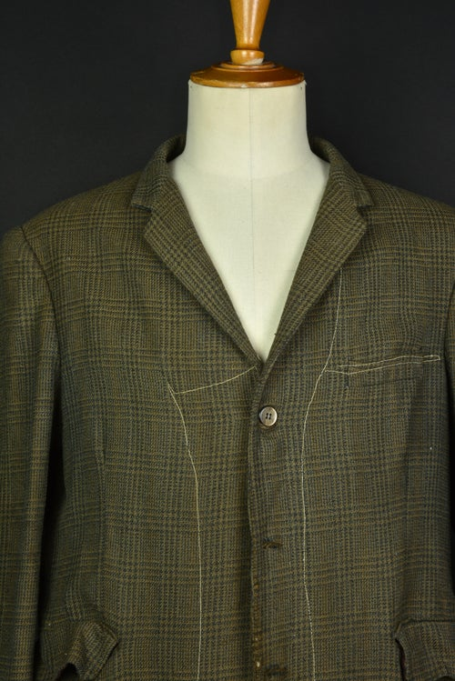 Image of 1920'S FRENCH BROWN WOOL FARMER BLAZER JACKET