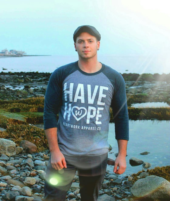 "Image of ""HAVE HOPE"" 3/4 Sleeve Raglan Tee"