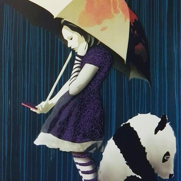 Image of AFK - Rain handfinished