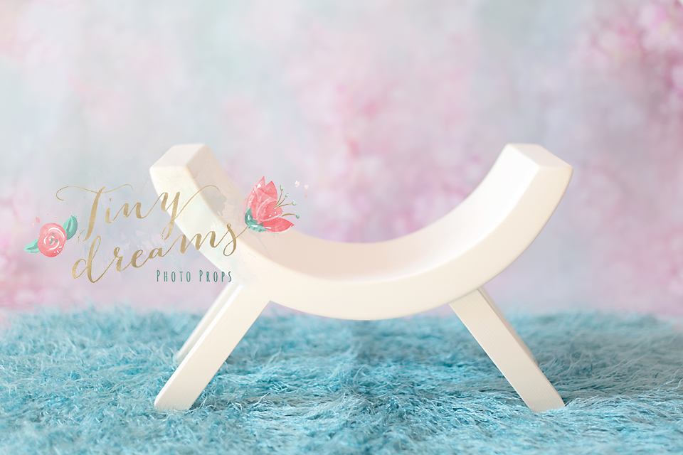 Tiny Dreams Wooden Stool Curved Bench Newborn Baby