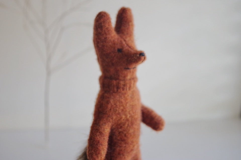 Image of Stealthy Fox, small wool forest friend