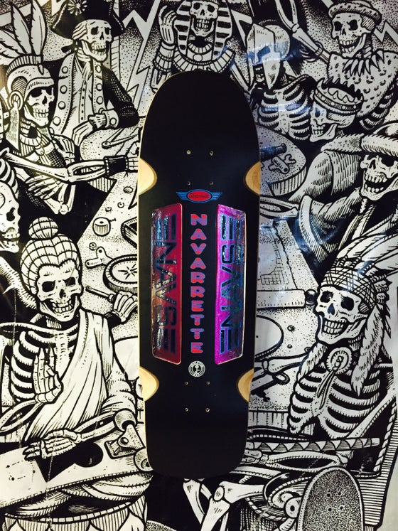 Image of SKMFG x Skater Built Guest Model Navarette Deck Signed